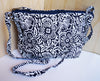 Navy and White Shoulder Bag - Issara Fairtrade