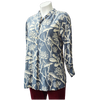 Frangipani Print Blouse in French Blue - Issara Fairtrade