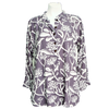 Frangipani Print Blouse in Purple Haze - Issara Fairtrade