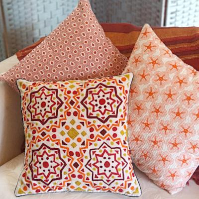 Eco Cushion Embroidered Autumn Colours