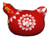 Colourful Chooks Red - Issara Fairtrade