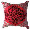 Red Embroidered Cushion - Issara Fairtrade