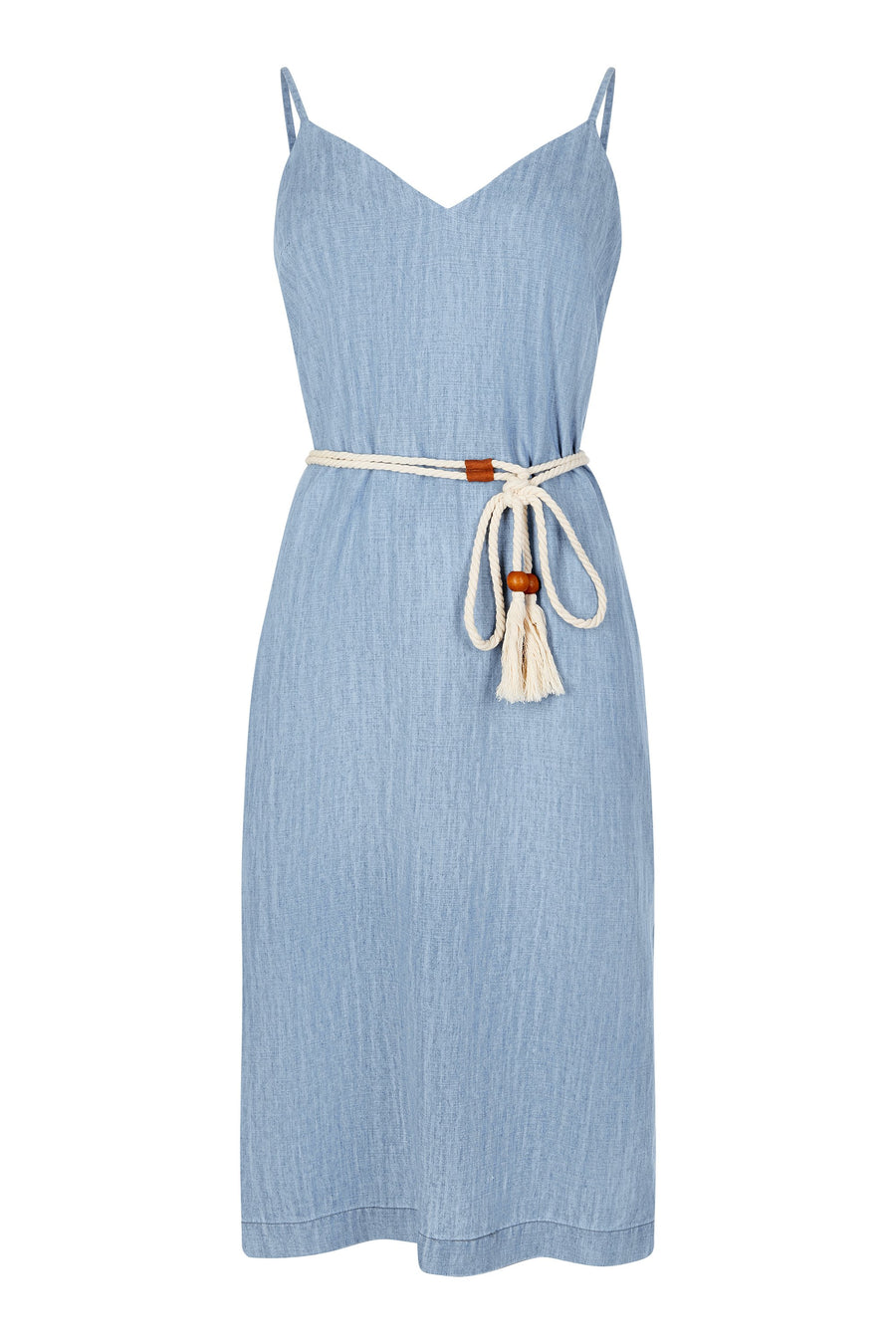 Sara Midi Denim Dress Tencel & Linen - Issara Fairtrade