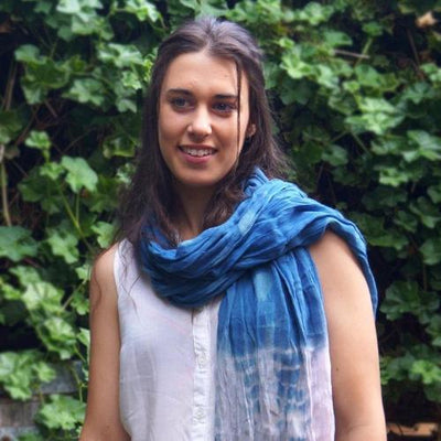 Hand Woven Tie Dye Scarf - Issara Fairtrade