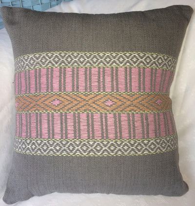 All Natural Dye Hand Woven Eco Cushion - Issara Fairtrade
