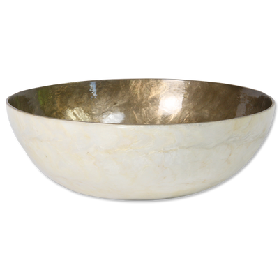 Coloured Capiz Shell Serving Bowl - Issara Fairtrade