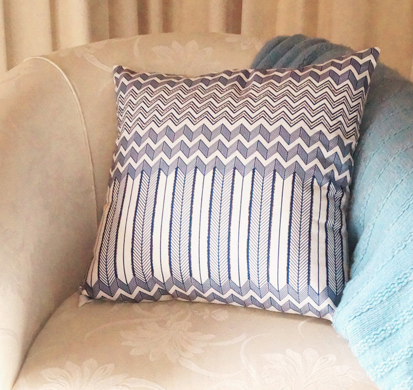 Moroccan Blue Eco Cushion