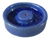 Blue Round Stoneware Incense Holder - Issara Fairtrade