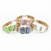 Cork Ceramic Bead Bracelet Set 4 Assorted - Issara Fairtrade