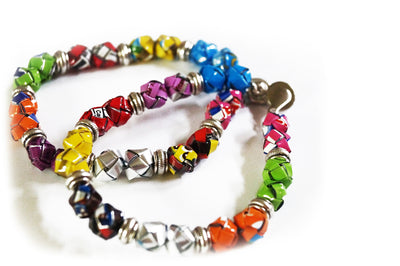 Recycled Juice Box Bracelet - Issara Fairtrade