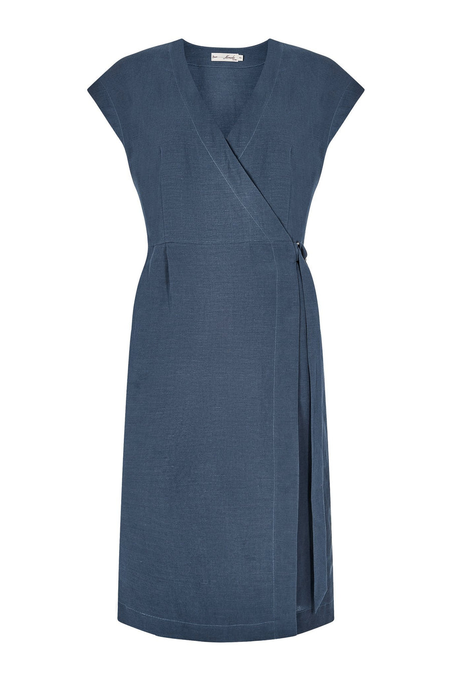 Pansey Tencel Dress Blue Grey - Issara Fairtrade