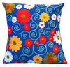 Spring Flowers Hand Embroidered Eco Cushion - Issara Fairtrade