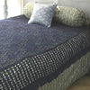 Hand Crocheted Bed Throw Lavendar Grey - Issara Fairtrade