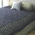 Hand Crocheted Bed Throw Lavendar Grey