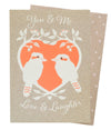 Kookaburra Love Card - Issara Fairtrade