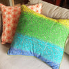 Swirl Colour Ombre Eco Cushion - Issara Fairtrade