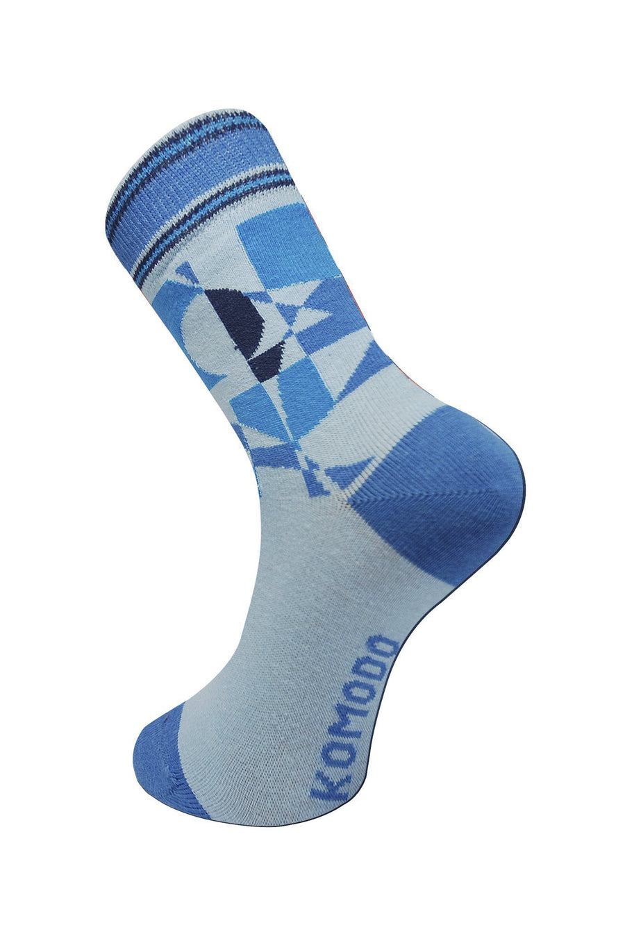 Womens Organic  Socks - Abstract Blue - Issara Fairtrade
