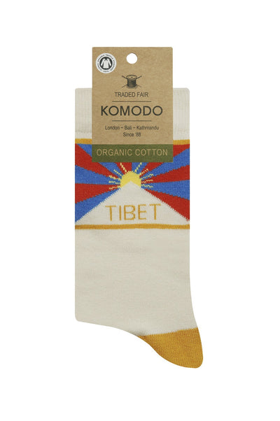 Womens Organic Socks Free Tibet Gold - Issara Fairtrade