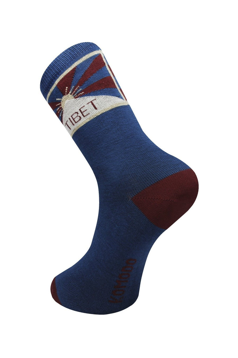 Womens Organic Socks - Free Tibet Navy - Issara Fairtrade