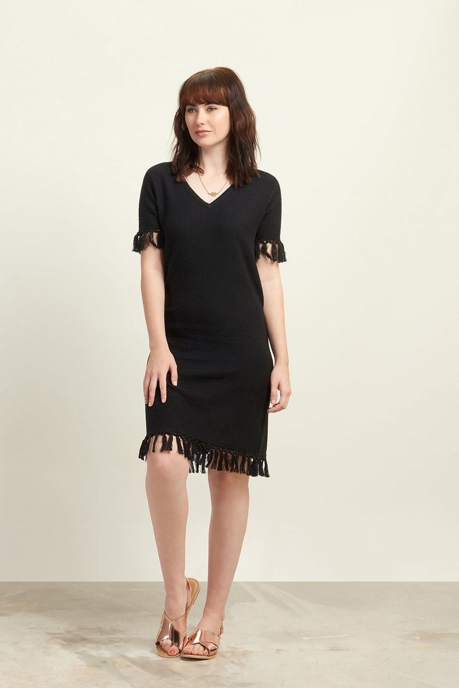 Souk Black Dress - Organic Cotton - Issara Fairtrade