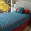 Hand Crocheted Bed Throw Teal - Issara Fairtrade