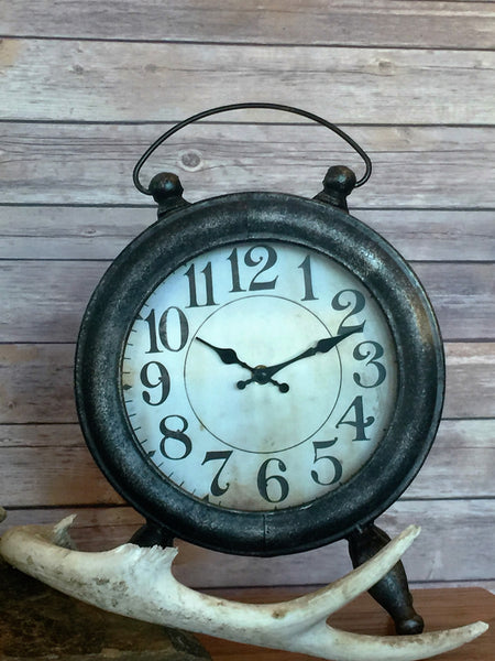 Wesson Metal Table Clock - Antler Road