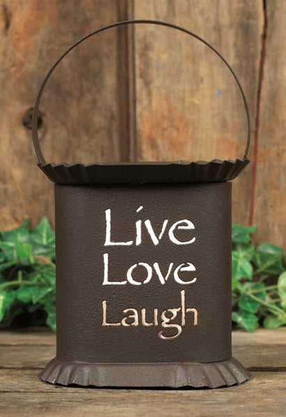 Live Laugh Love -  Oval Wax Warmer - Antler Road