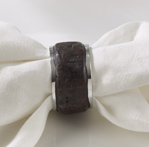 Bark Wood Napkin Ring - Antler Road