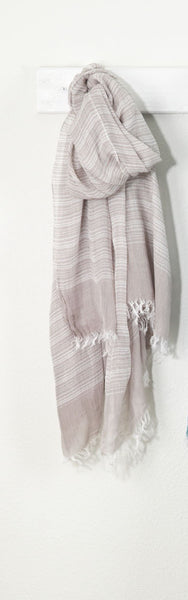 Natural Striped Scarf - Antler Road