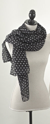 Black Polka Dot Scarf - Antler Road