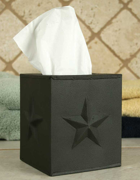 Rustic Star Tissue Box Cover - Antler Road