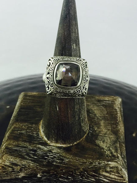 Gray Mystic Topaz Solid Sterling Silver Ring - Antler Road