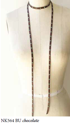 Brown Leather Choker with Patina Studs - Antler Road