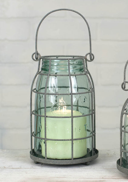 Mason Jar Candle Cage - Quart - Antler Road