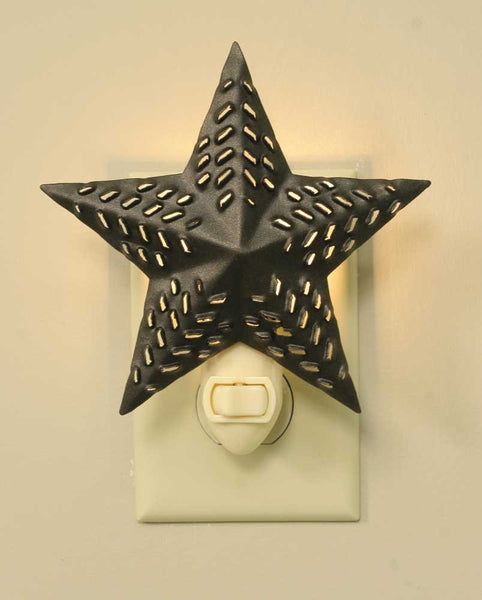 Bronze Punched Star Night Light - Antler Road