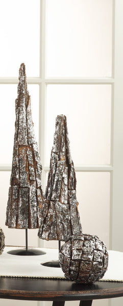 "Silver Wooden Bark Tree 20"" - Antler Road"