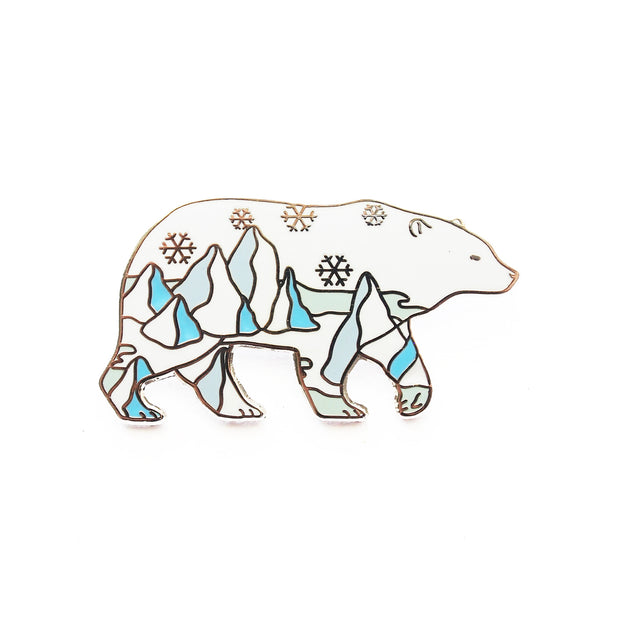 Polar Bear Pin - Oh Plesiosaur