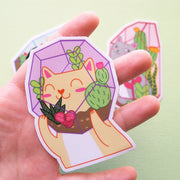 Terrarium Cats Sticker Pack - Oh Plesiosaur