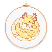 Axolotl Cross Stitch Pattern - Oh Plesiosaur