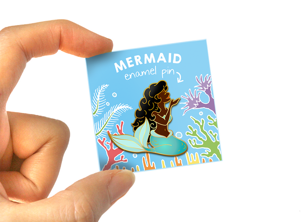 Teal Mermaid Pin - Oh Plesiosaur