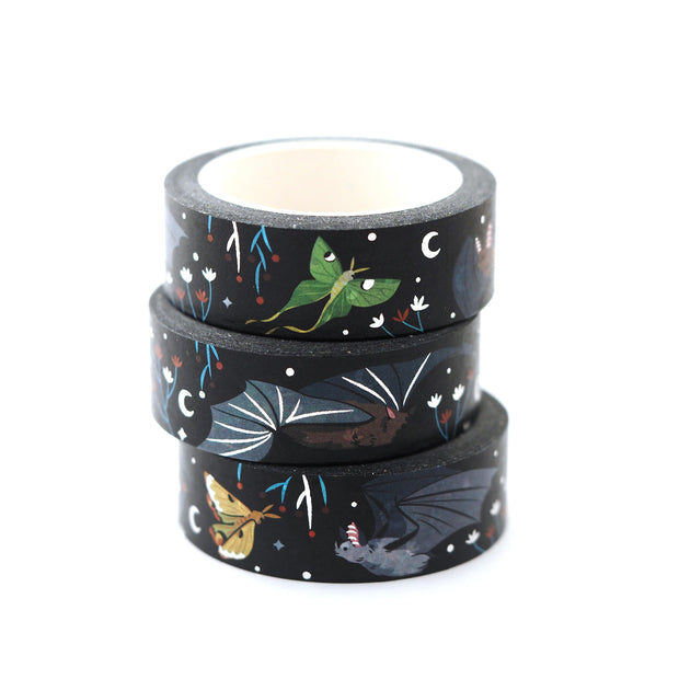 Bats & Moths Washi Tape - Oh Plesiosaur