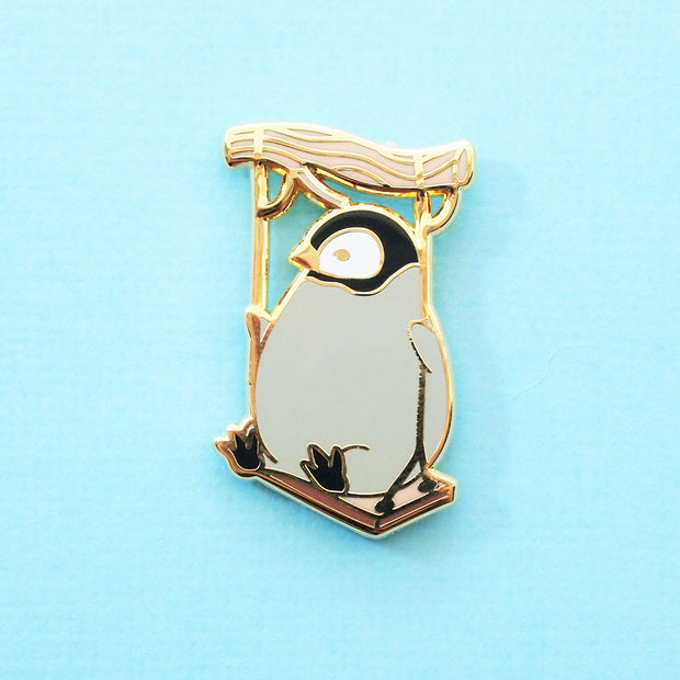 Baby Penguin on a Swing Pin - Oh Plesiosaur
