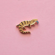 Mini Blue-tongued Skink Pin - Oh Plesiosaur