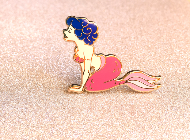 Pink Mermaid Pin - Oh Plesiosaur