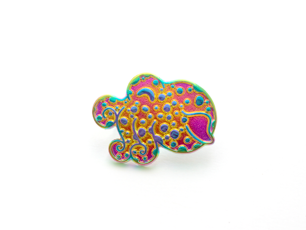 Bobtail Squid Pin - Rainbow - Oh Plesiosaur