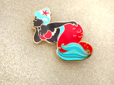 Seconds Sale - Red Body Positive Mermaid Enamel Pin