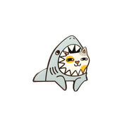 Shark Cat Pin - Oh Plesiosaur