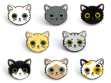 Siamese Cat Face Enamel Pin