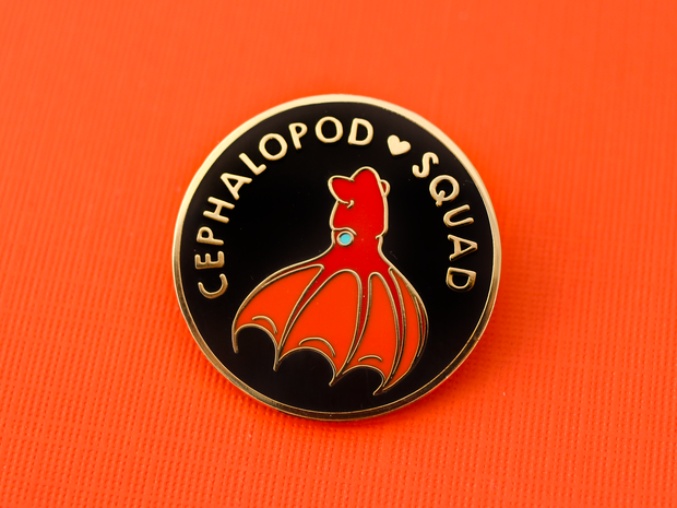 Seconds Sale - Cephalopod Squad Pin - Oh Plesiosaur