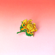 Seconds Sale - Chrysanthemum Pin - Oh Plesiosaur